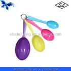 colorful 4pcs plastic measure spoon