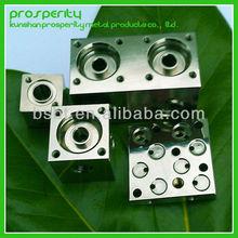 custom stainless steel/ copper/aluminium hydraulic valve block