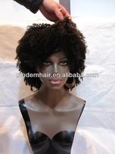 Beautiful cheap malaysian kinky curl u part wigs