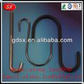 De la fábrica de Dongguan S en forma de gancho de la suspensión / negro anodizado de aluminio S gancho / doble S gancho