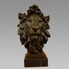 Large Bust Male Lion Bronze Sculpture Statue Bronze Handwork Home Decor Lion Head Figurine