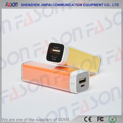 2600mah real capacity mini camping external battery pack power bank charger