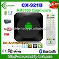 Rockchip rk3188 1.6 ghz cortex a9 ddr3 1gb/8gb tarjeta micro sd otg wifi hdmi quad core android tv box cx921