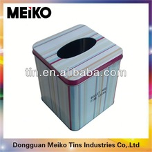 hot selling tall square tin box with plastic lid
