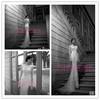 2014 New Design Vestidos De Noiva Mermaid Wedding Gown Long Sleeve Cut Mermaid Wedding Dress Free Shipping BO3918