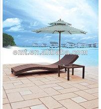 2014 Fall New Sale Patio Rattan sun loungers for sale Modern Brown Sun Lounger(1718CL-7205ET)