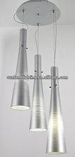 110-120V and 220-240V MODERN silver pendant light