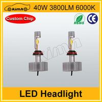 New product HID base 40w 3800LM moto led headlight