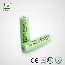 High quality 600mah battery packs 4.8v nimh