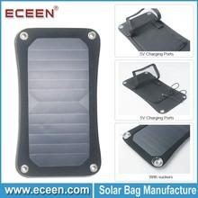6.5watts high efficiency portable solar panel, SUNPOWER solar panel with 5000mah battery