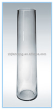 Clear Tall Cylinder Glass Vase For Sale