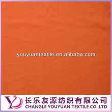 Orange colour 100 polyester plain cloth for clothes