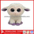 popular blanco de peluche de juguete de oveja de peluche lindo juguete ovejas con ojos brillantes