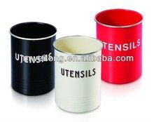 Kitchen Utensil in Round Design / Storage tin box