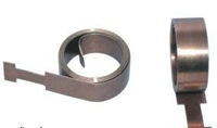 Black flat galvanized spring steel clips for glasses and bags