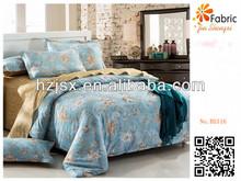 BS116 100% cotton print fabric blue rose print fabrics for bedding set