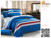 BS117 100% cotton print red white and blue striped fabric for bedding set