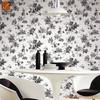 black color modern wallpapers modern pvc vinyl coated wallcoverings