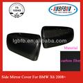 Carbonio specchietto laterale di copertura per bmw x6 2008+