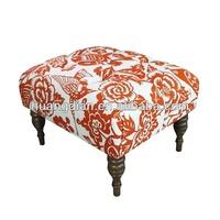 fabric footstool frame in wood OT2030