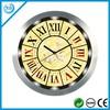 12 inch wall metal frame clock