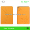 Orange PU V Folded series pu leather flip case for ipad air,leather flip cover for ipad air