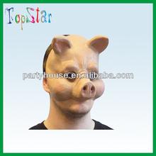Pig latex animal head mask