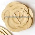 ingrosso rotonda infrangibile bambù piatti usa e getta piatto set