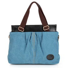 Blue Tote Bag Canvas Cotton