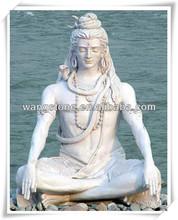 Outdoor religious marble stone statue