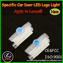 2014 Hot sale!diy car laser led logo door light/car logo led courtesy light