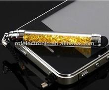 Fashion Mini Crystal Touch Screen Stylus Pen, Rhinestone Stylus Pen, crystal stylus pen