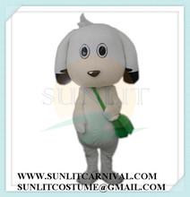 White Big Head Dog Mascot Costume/Fur Dog Mascot Costume