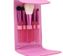 5 pcs makeup brush set crystal cosmetic tool kits for girl colorful makeup bag