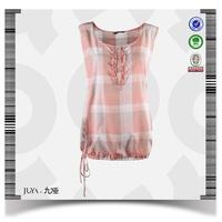 2014 fashion new style cotton ladies blouse back neck designs