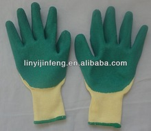 high quality safety working gloves/Latex coated working goves