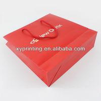 funny red wine printing paper bag