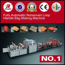 High Quality Fully Automatic nonwoven zip lock bag making machine/w-cut bag making machine/loop handle bag making machine