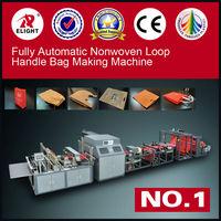 High Quality Low Price Fully Automatic nonwoven zip lock bag making machine/shoes bag making machine/loop handle bag machine