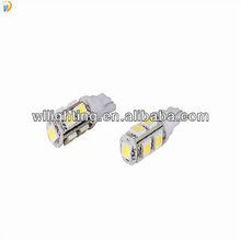 White 10x T10 194 W5W 9leds 5050 Car SMD Led Bulb Licence plate light