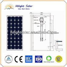 Hot sale chinese high efficiency 150 watt mono solar panel