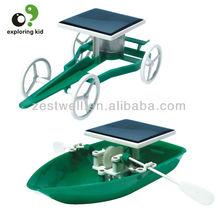 DIY Solar Car&Boat ,Shenzhen School Educational Toys