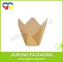 Colored Tulip Baking Cups disposable muffin tulip paper cup 100% Food Grade Paper cup