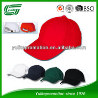 6 panel baseball cap with metal buckle back closure