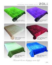 2014 new Korea style 100% polyester raschel hot embossing blankets