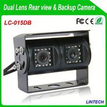 China supplier dual lens audi q5 waterproof night vision camera for trucks