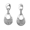 2014 wedding accessories rhodium plated silver earring