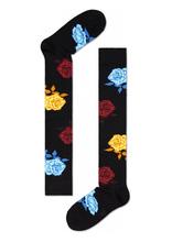 Elegant Rose Knee High Socks Custom Wholesale Combed Cotton Stockings for Happy Women Girls