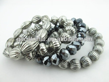 YB2542 wholesale stretch glass bead bracelets bling toptan 2013 trend bilezik
