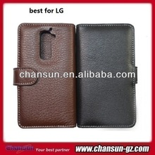 2014 new arrival pu leather case for lg g2,,black and coffee color